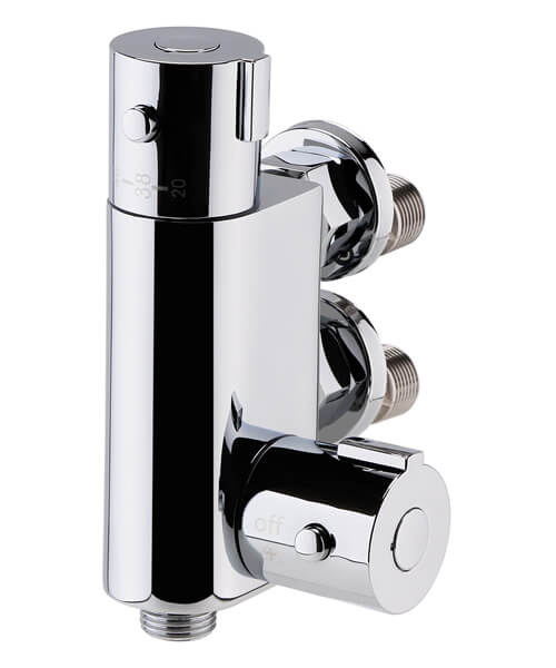 Nuie Vertical Thermostatic Bar Shower Valve