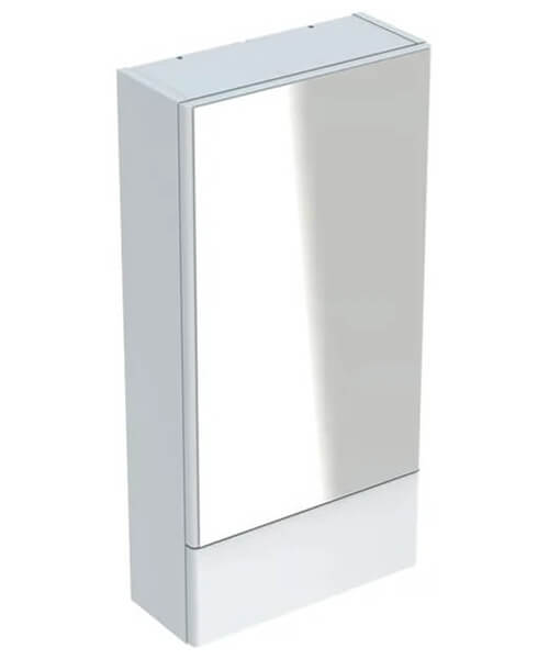 Geberit Selnova Square Mirror Cabinet With One Pull-Down Door 418 x 850mm