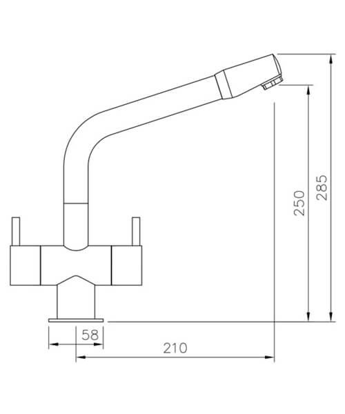 Technical drawing 25986 / TAP1CM/