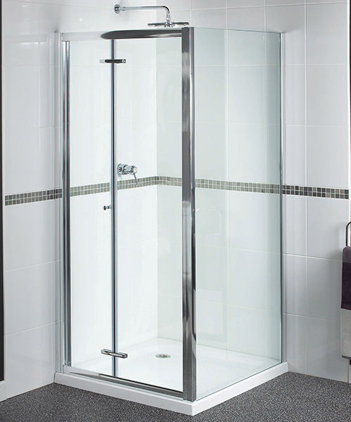 Aqualux Shine 6 1850mm High Bi-Fold Shower Door