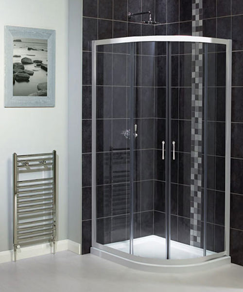 Aqualux Shine Off-Set Quadrant Shower Enclosure 800mm x 1000mm