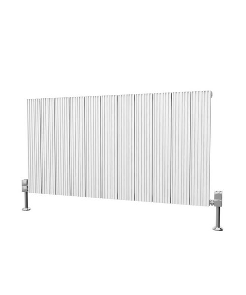 Reina Enzo 1230 x 600mm Horizontal Aluminium Radiator White
