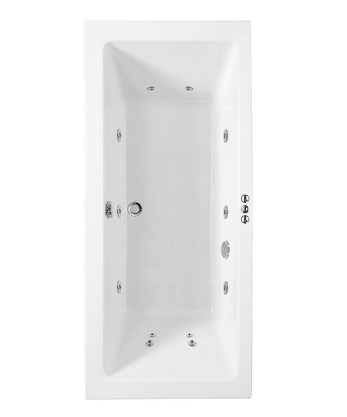 Phoenix Rectangularo 6 Single Ended Whirlpool Bath 1800 x 800mm