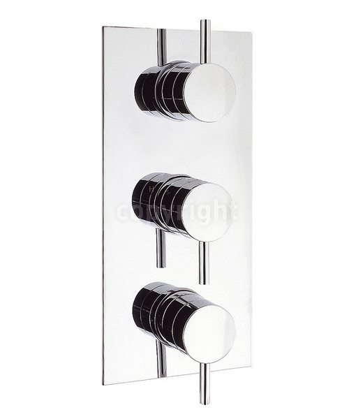 Crosswater Kai Lever Thermostatic 3 Control Portrait Shower Valve