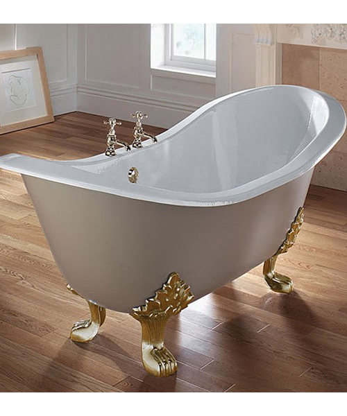 Imperial Sheraton 1800mm Slipper Bath With White Lion Feet