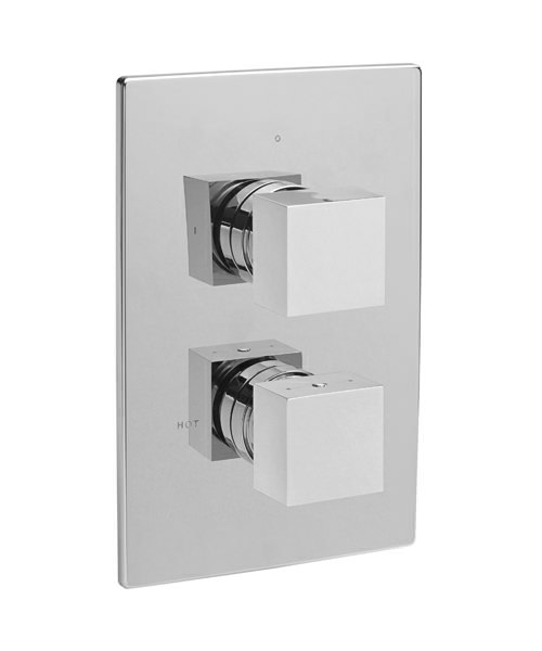 Edge Concealed Thermostatic Shower Valve With 2 Way Diverter