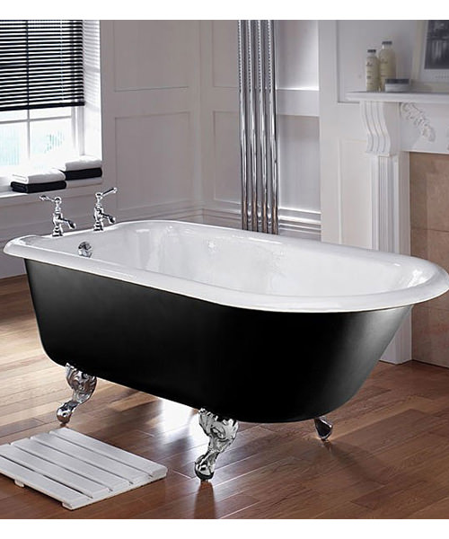 Imperial Waldorf 1700mm Single Ended Cast Iron Bath With Feet