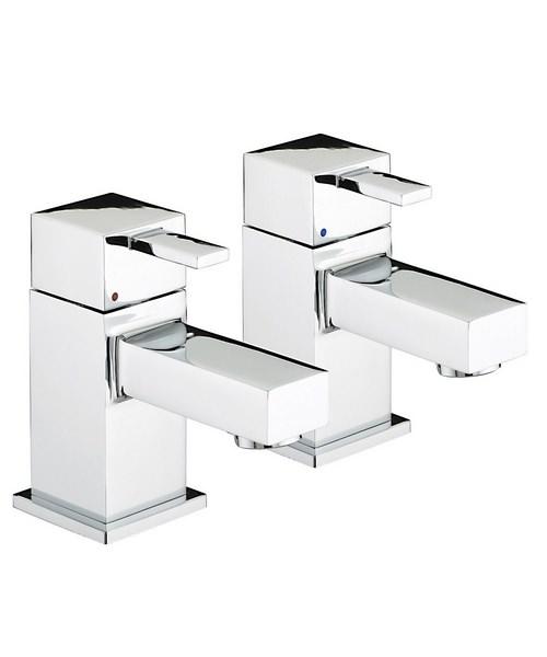 Bristan Quadrato Chrome Plated Bath Taps Pair