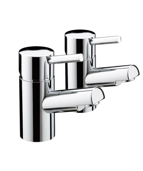 Bristan Prism Chrome Plated Basin Taps Pair