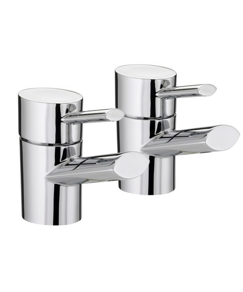 Bristan Oval Chrome Plated Bath Taps Pair