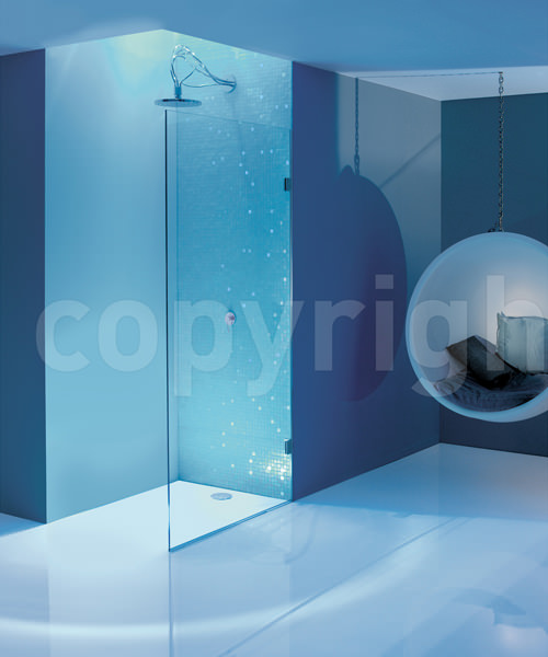 Simpsons Ten 1100mm Single Fixed Shower Panel