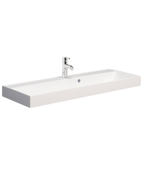 Bauhaus Design 1000mm Single Taphole Cast Mineral Marble Vanity Basin