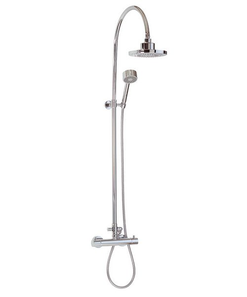 Thermostatic Bar Valve With Rigid Riser Handset And Shower Head