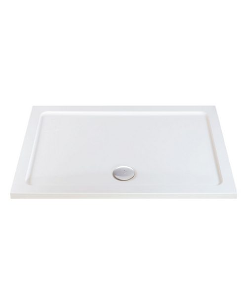 Phoenix Rectangular Shower Tray With Center Waste 1100 x 760mm