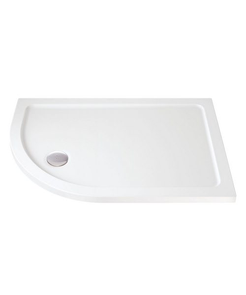 Low Profile Offset Quadrant Shower Tray 1000 x 800mm Left Hand