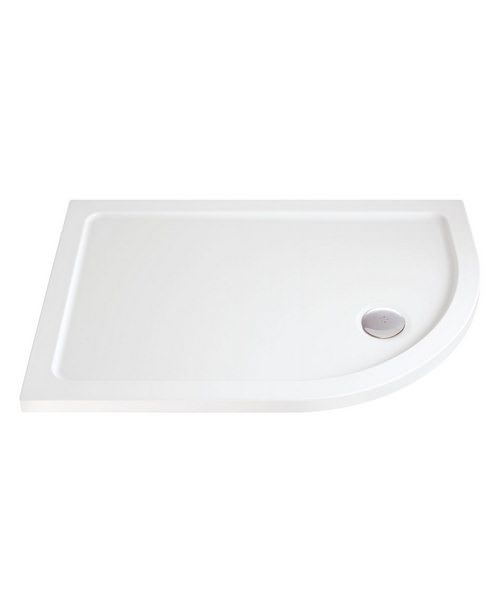 Low Profile Offset Quadrant Shower Tray 900 x 800mm Right Hand