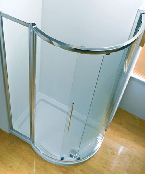 Kudos Original RH Silver Frame Side Access Offset Quadrant Door 1000mm
