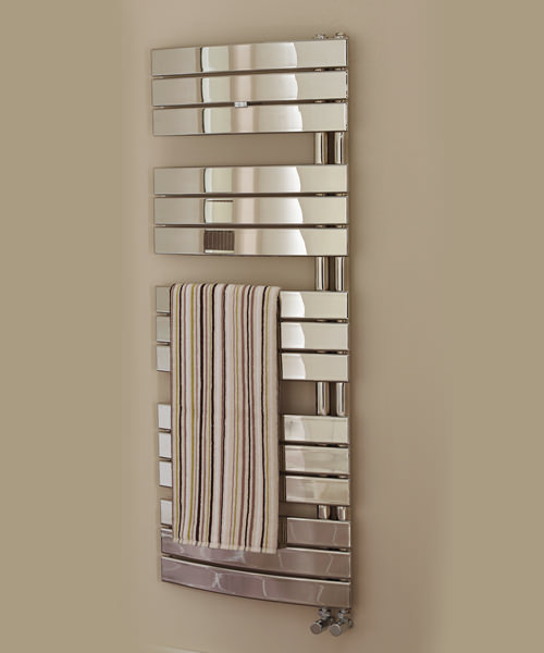Essential Aries Deluxe Chrome Plated Curved Towel Warmer 550 x 1080mm