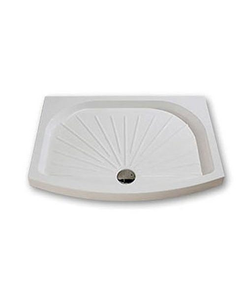 Kudos Concept 2 Bow Fronted Shower Tray 900 x 800mm White