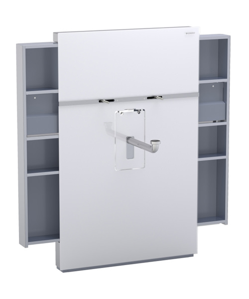 Geberit White Monolith With Left And Right Drawer For Basin And Tap