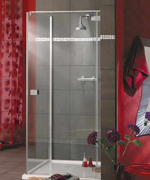 Lakes Italia E-Lite Rosso Frameless Hinged Shower Door 750mm