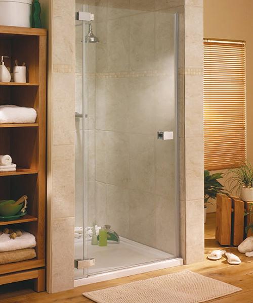 Lakes Italia E-Lite Pesaro Frameless Hinged Shower Door 800mm