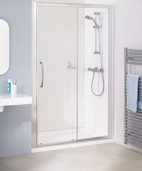 Lakes Classic Silver Semi-Frameless Slider Door 1500 x 1850mm