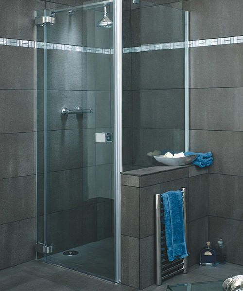 Lakes Italia E-Lite Licata Frameless Hinged Shower Door 1000mm