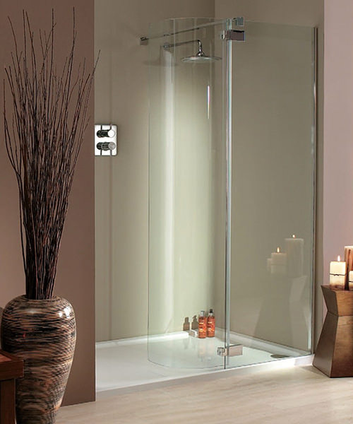 Lakes Italia Torino Frameless Hinged Shower Door 1400 x 750mm