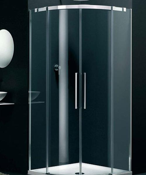 Lakes Italia Carini Sliding Shower Door Offset Quadrant 1000 x 900mm