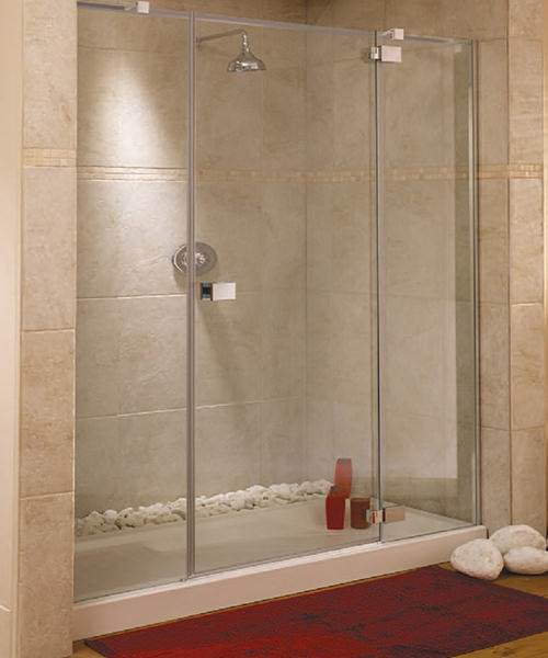 Lakes Italia E-Lite Rimini Frameless Hinged Shower Door 1700mm