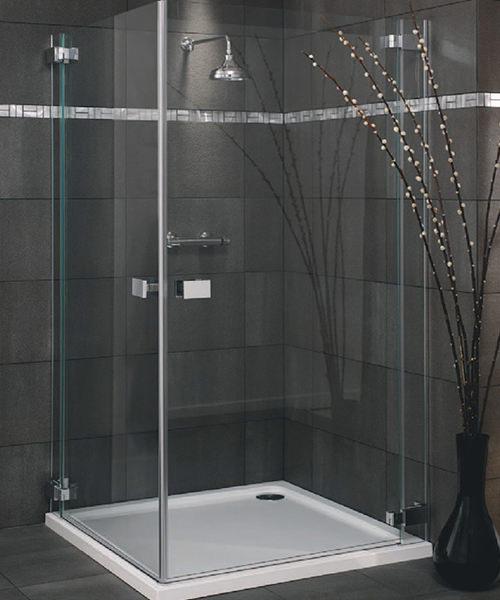 Lakes Italia E-Lite Milazzo Frameless Hinged Shower Door 900mm