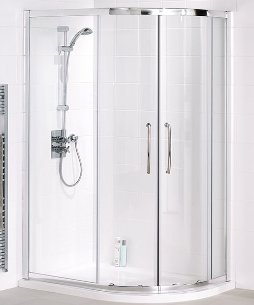 Lakes Classic Semi Frameless Offset Quadrant Plus Enclosure 900 x 800mm