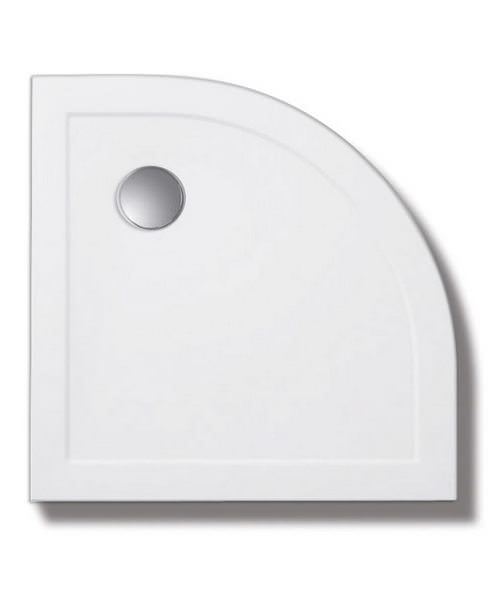 Lakes Low Profile SMC Quadrant Shower Tray 800 x 800mm With 90mm Waste