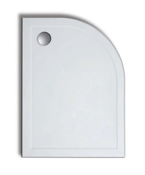 Lakes Low Profile Offset Quadrant Tray 1200x800mm With 90mm Waste Right Hand