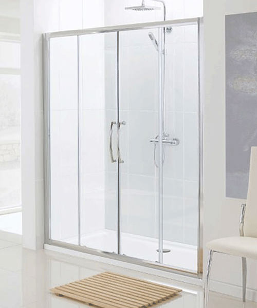 Lakes Classic Semi-Frame Less Double Slider Shower Door 1600 x 1850mm