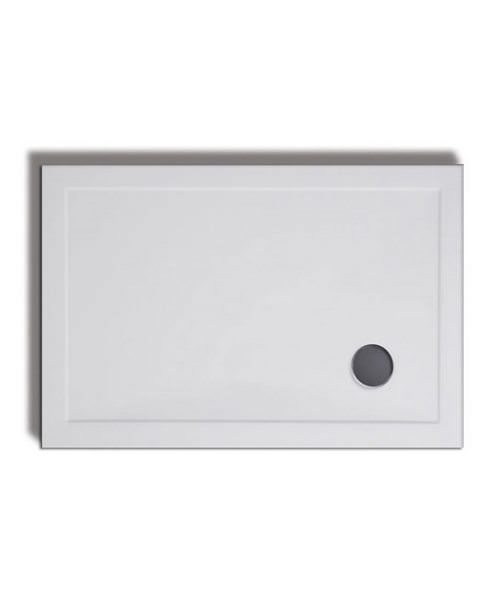 Lakes Low Profile Rectangular Shower Tray 900 x 800mm With 90mm Waste