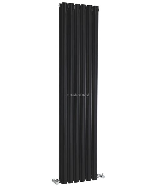 Hudson Reed Revive 354 x 1800mm Black Double Panel Vertical Radiator