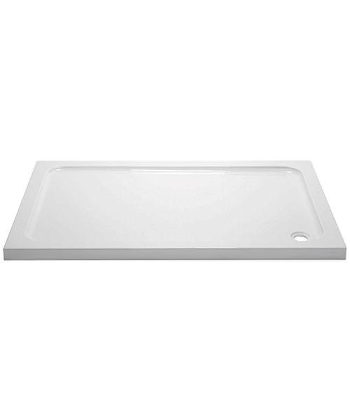 April Slimline 45mm Stone Resin Rectangular Shower Tray