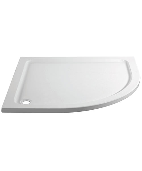 April Offset Quadrant 900 x 760mm Left Hand Shower Tray