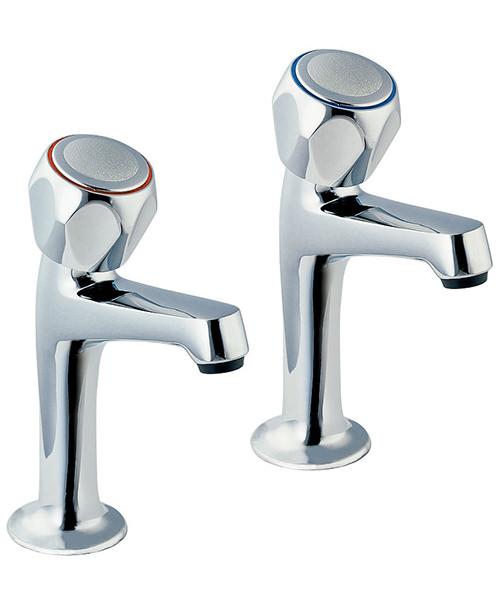 Deva Profile Kitchen Sink Mixer High Neck Taps With Metal Back Nut