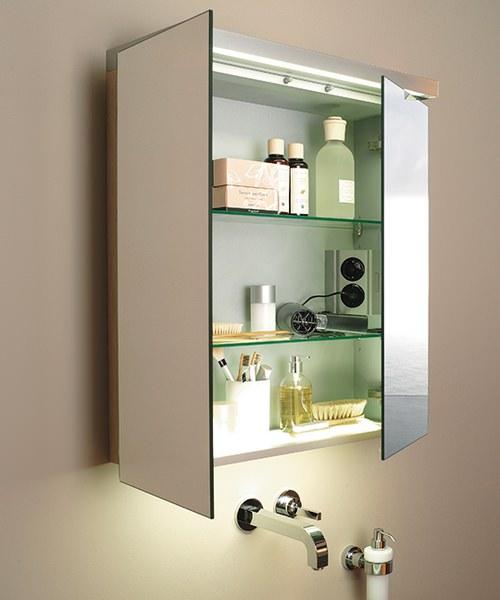 Duravit fogo american walnut finish 1000mm mirror cabinet for Kitchen cabinets 1000mm