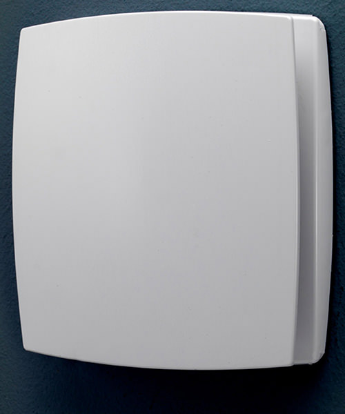 HiB Breeze Wall Mounted White Bathroom Fan With Timer