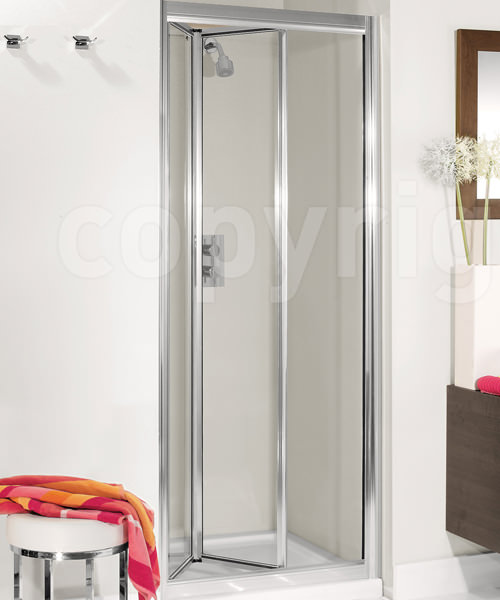 Simpsons Supreme Silver Framed 600mm Plus Bifold Shower Door
