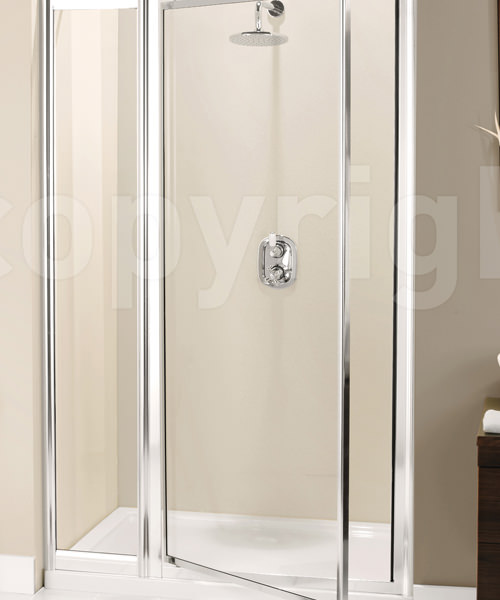 Simpsons Supreme 1100mm Pivot Shower Door With Inline Panel