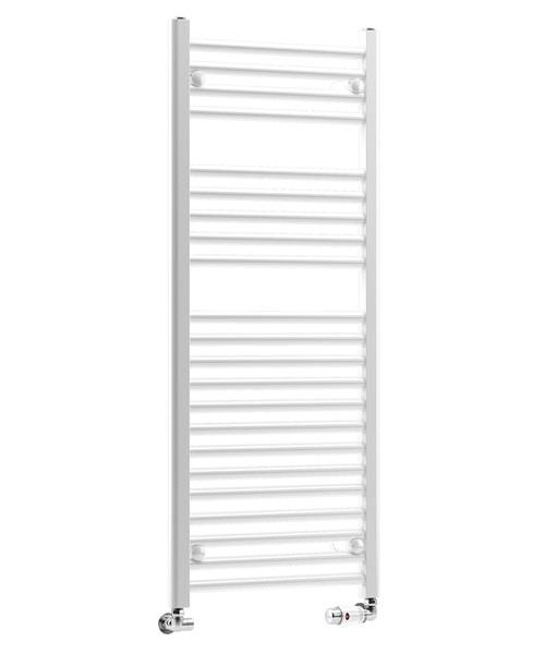 DQ Heating Metro Straight Heated Towel Rail White 300 x 800mmm