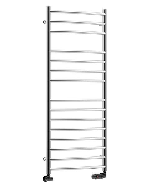 Heated Towel Rail Vertical: DQ Heating Zante 500 X 1190mm Curved Vertical Heated Towel