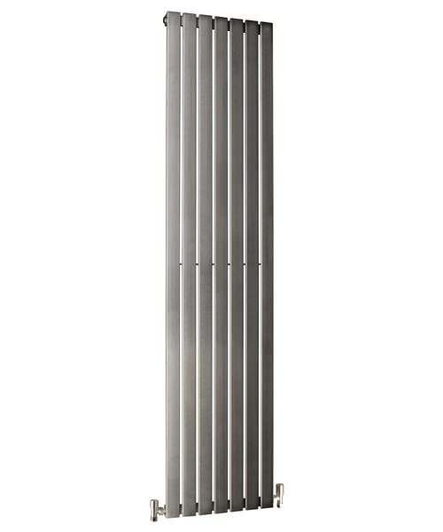 DQ Heating Delta Brushed Stainless Steel Vertical Radiator 230 x 1600mm
