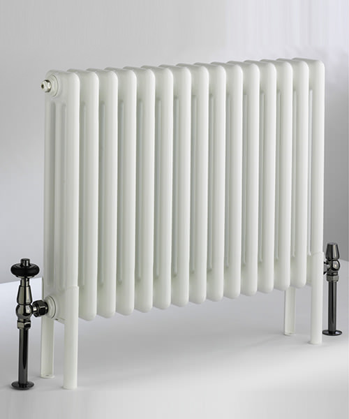 DQ Heating Peta 3 Column 161 x 592mm Radiator White - 3 To 40 Sections