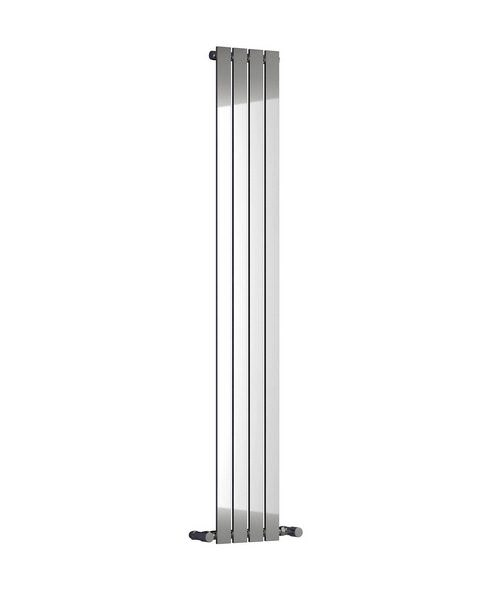 Reina Osimo Chrome 290 x 1800mm Designer Vertical Radiator
